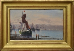 Huile sur toile signée Bertrand