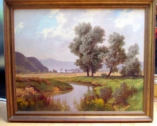 Huile sur toile Jakob Edwin-Bachmann