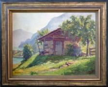 Huile sur bois E. Kohlund