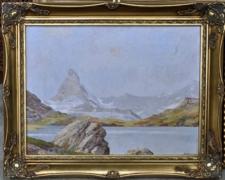 Huile sur toile signée Waller